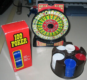 Banque Poker Wheel Bank and Chips