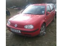 Breaking for spares - 2002 VW Golf Mk4 TDI 5dr