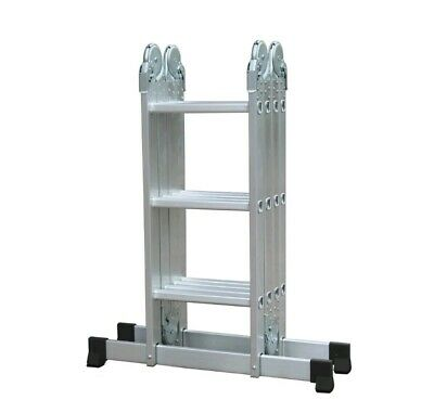 Aluminium Folding multi purpose Ladder Step Ladder Locking 3.7m Extendable EN131