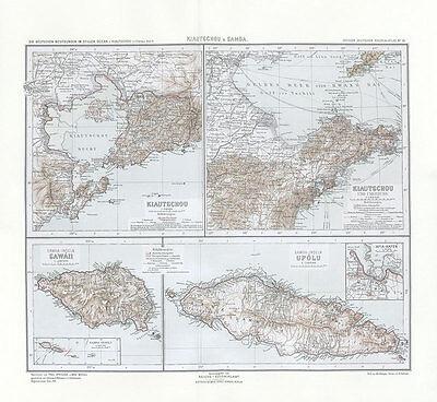 Kiautschou und Samoa Stiller Ozean Upolu China Tsingtau Apia Kolonialatlas 09