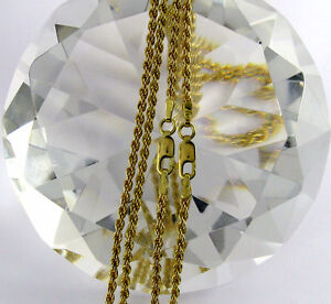 """Rope Chain Necklace 10k SolId Gold Length Available 16"""" 18"""""""