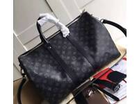 Louis Vuitton LV mens 55cm duffle bag - 100% Real Leather ( gym / travel )