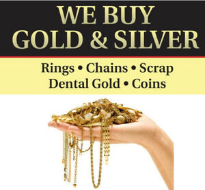 We buy Gold & Silver at Tresors Jewellers 235 Princess St.