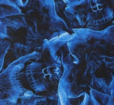 Hydrographic Water Transfer Hydrodipping Film Hydro Dip Blue Skulls 1sq