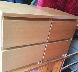 2 ikea bedside drawers. Good condition.Delivery available extra cost