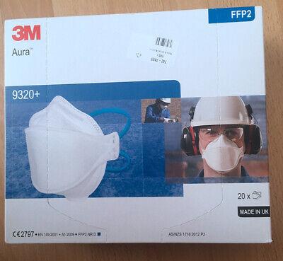 3M™ Aura™ 20 STK Atemschutzmaske 9320+ FFP2 Maske Atemmaske Schutzmaske