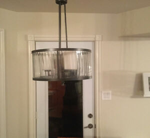 Hanging light fixture-almost new