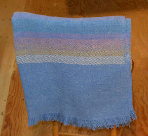 100% wool vintage sofa blanket from Cottage Craft New Brunswick