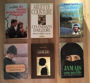 Divers romans ($3 chaque ou les 6 pour $10)
