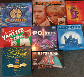 Board games, job lot 8 in total. 2 are vintage.