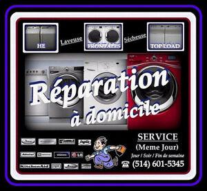 RÉPARATION Laveuse / Sécheuse FRONTALES et TOP LOAD...