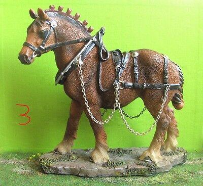 Resin Breyer Pferd Kaltblut mit Geschirr Classic-Size  online kaufen