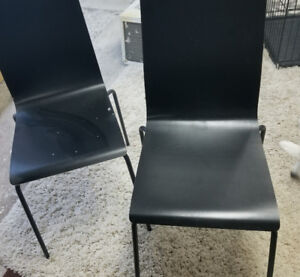 black chair from Ikea