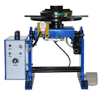 110v 50kg Duty Welding Positioner Turntable With 200mm Chuck Positive Inversion