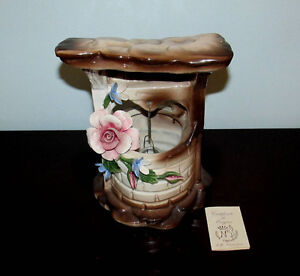 Vintage Nuova Capodimonte Wishing Well Centerpiece
