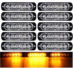 NEW 6 & 4 LED AMBER STROBE EMERGENCY STROBE TRUCK LED LIGHT