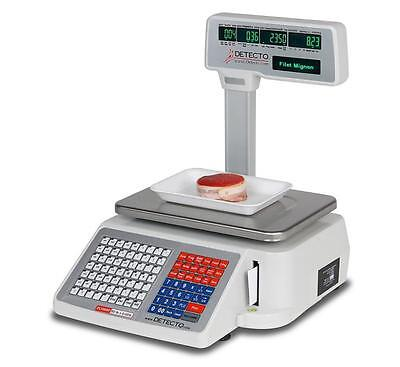 Cardinal Detecto Dl1030p 30 Lb. Digital Price Computing Scale With Printer