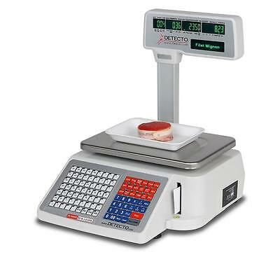 Cardinal Detecto Dl1030p 30 Lb. Digital Price Computing Scale With Printer