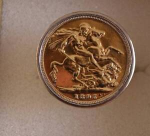 FULL 22K GOLD 1895 SOVEREIGN SOLID 18K RING-CUSTOM MADE $4200 Double Bay Eastern Suburbs Preview