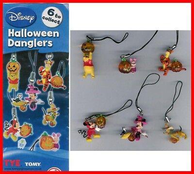 Set 6 Abbildung DISNEY HALLOWEEN Figuren MICKEY WINNIE TIGRO PLUTO - Halloween Figuren