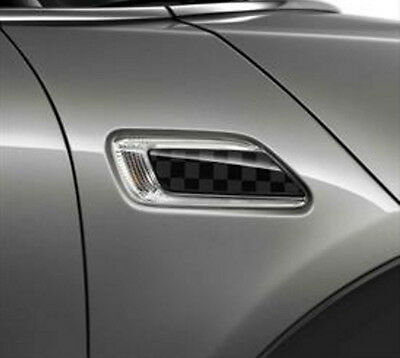 OEM Mini Cooper Clubman F54 Side Scuttle Black Gray Checkered Flag 51132365737