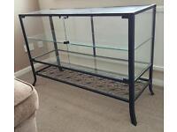 Glass display cabinet, showcase, retail.