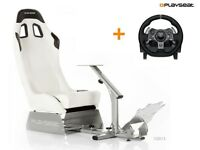 Playseat® Evolution White + Logitech G920 Xbox pc racing wheel simulator games game