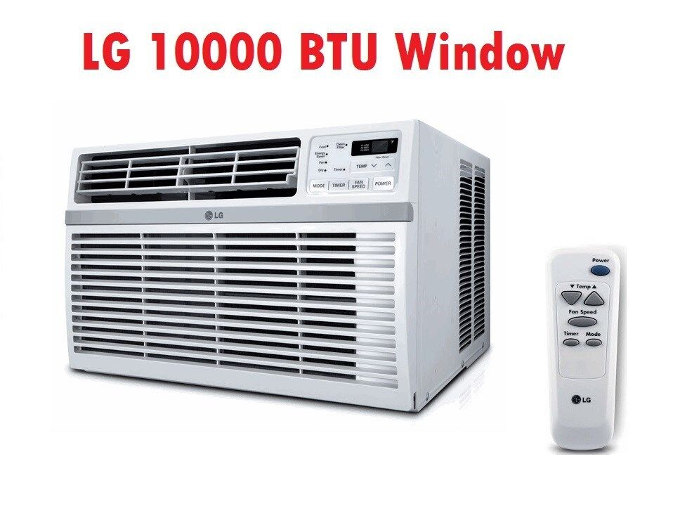 Lg lw1015er 10 000 btu air conditioner with 3 speed for 12 inch high window air conditioner