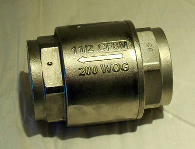 Stainless Steel 304 In-line Check Valve 1-12 200 Wogcf8m New