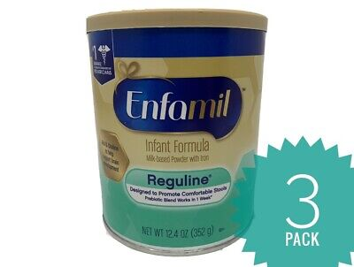3 Cans Enfamil Reguline Infant Baby Formula w/Iron - NEW 12.4 oz
