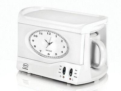 Swan Teasmade Teasmaid Tea Maker Kettle Made Maid Coffee Clock Light Alarm