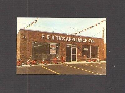 Business Card   F   H Tv   Appliance Store   Burlington  Nc   Lawn Mowers  Tvs