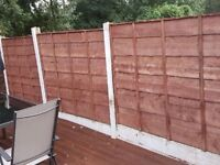 Waney Lap Fence Panels Heavy Duty