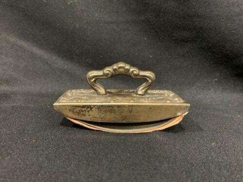 Vintage Repoussé Brass Ink Blotter With Handle And Bibulous Paper