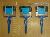 Hamilton Acorn British Made Quality Kestrel Range 3 Paint Brush Pack 100mm New