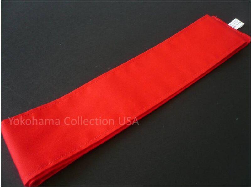"Japanese Martial Arts Sport /""Aka/"" Red Hachimaki Headband//36/"" x 2.5/""//Made Japan"