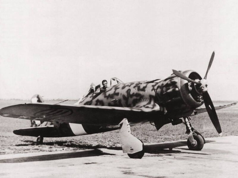 WWII B&W Photo Macchi C.200 Fighter  World War Two Italy WW2  / 6100
