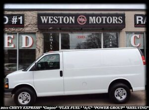 2011 Chevrolet Express G2500*FLEX FUEL*A/C*POWER GROUP*SHELVING*