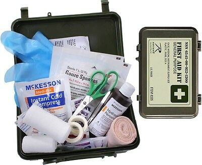 Military Od Green Olive Drab General Purpose First Aid Kit Made In The U S 8335