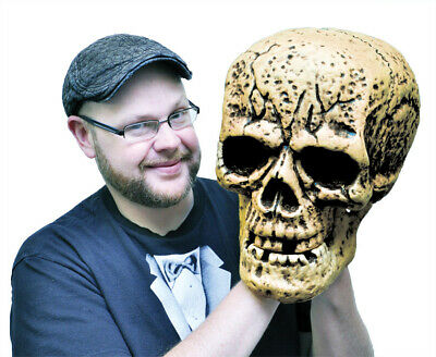 Halloween SKULL GIANT - LARGER THAN LIFESIZE Haunted House Decoration Party Prop - Giant Skull Halloween