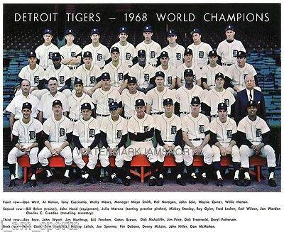 Detroit Tigers World Series 8X10 Team Lot Of 4 Photos 1968 1984 1945 1935