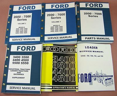 Ford 3400 3500 Industrial Loader Tractor Service Repair Parts Operators Manuals