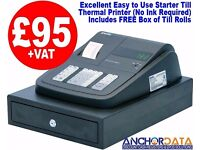 Low Cost Basic Cash Register - Excellent Starter Till - Simple to Use - Ideal for New Businesses