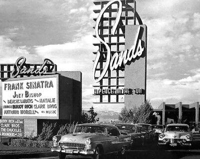 Las Vegas Sands Sign Frank Sinatra Joey Bishop 8 x 10 Photo Photograph Picture