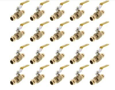 Lot Of 20 12 Propress Brass Ball Valves - Press Brass Ball Valve- Lead Free
