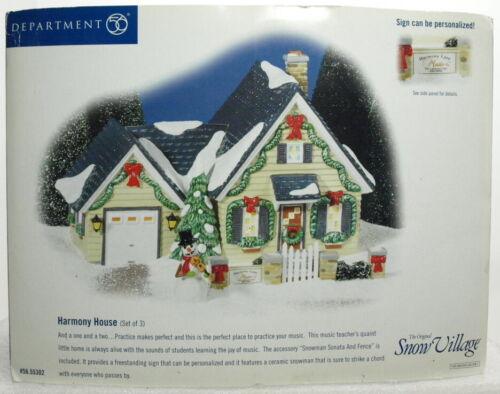 "DEPT 56 SNOW VILLAGE SERIES ""HARMONY HOUSE"" BRAND NEW"