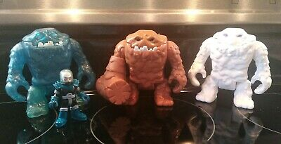 Imaginext/CLAYFACE/DC Super Friends/WHITE/BROWN/BLUE/Mr Freeze/Club/Rare/4 Piece