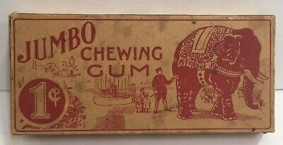 1920s O-PEE-CHEE Gum JUMBO The ELEPHANT 1 Cent BOX Circus P.T. BARNUM OPC RARE!!