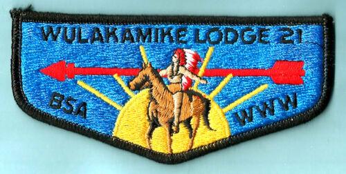 OA Lodge 21 WULAKAMIKE S- dk blu 80s Crossroads America Cncil Boy Scout flap IN