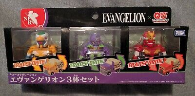 Takara Tomy Transformers Evangelion Choro Q QTC-02 EVA00 EVA01 EVA02 Set